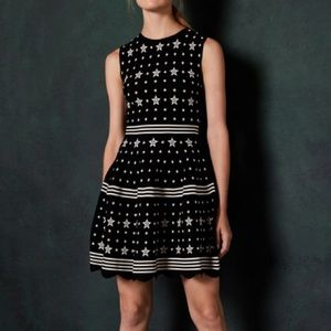 NWT Ted Baker Star Jacquard Knit Dress